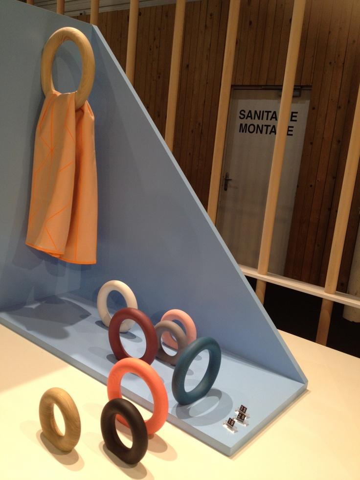 Wooden towel rings HAY