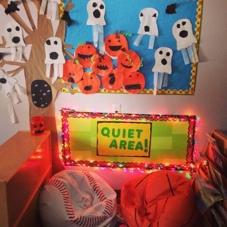 Classroom Decor Ideas For Teachers ~ Christmas lights in my pre k quiet area classroom