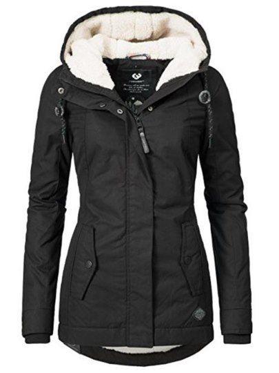 b22a1ffd463d Damen Schwarz Wollmantel Mit Woll Futter Winterjacke   Clothes and ...