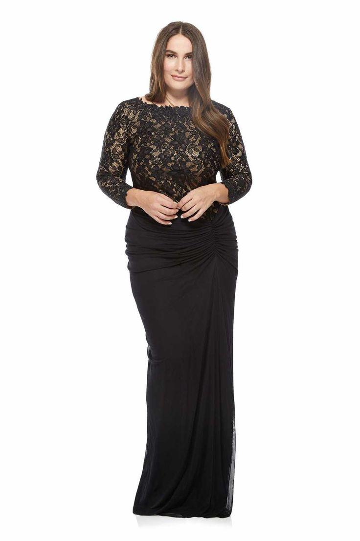 Tadashi Shoji AKH1673LXQ-BK/ND Черное Винтажное Вечернее Платье
