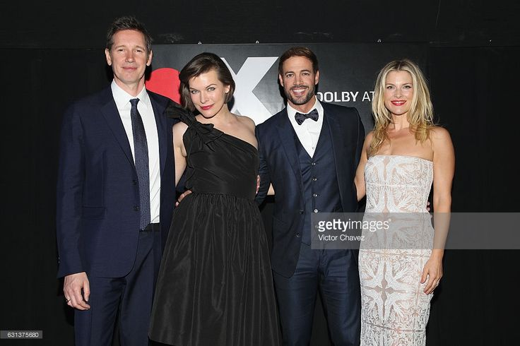 Film director Paul W.S. Anderson, actress Milla Jovovich, actor William Levy and Ali Larter attend the 'Resident Evil: The Final Chapter' Mexico City premiere at Cinemex Antara Polanco on January 9, 2017 in Mexico City, Mexico.
