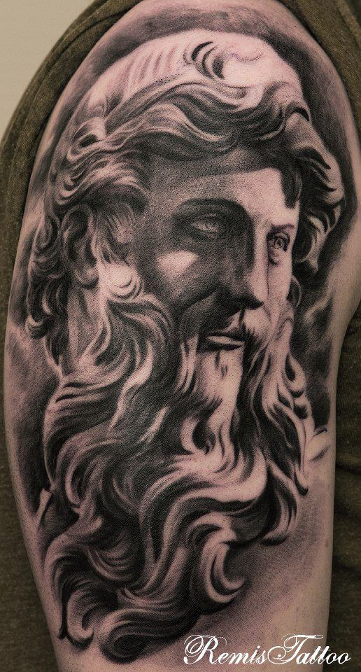 Wonderfully done ancient i 39 m not good at history is it for Greek sculpture tattoo