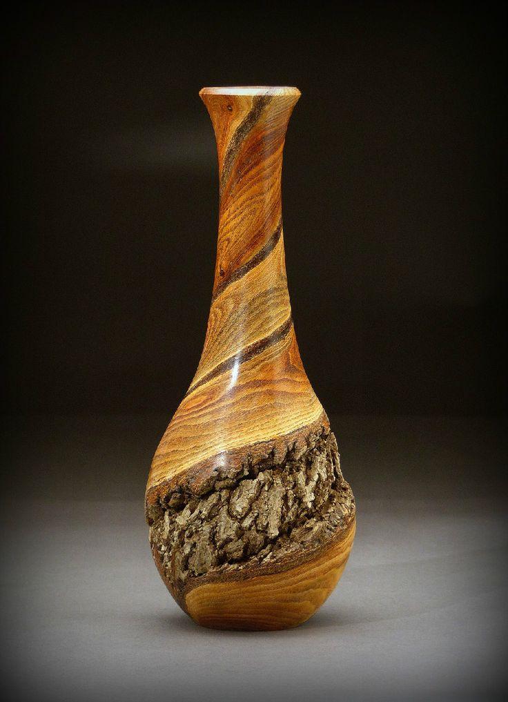 Spiral Dancers - Bittersweet Vine Wood Vase (BSW120)