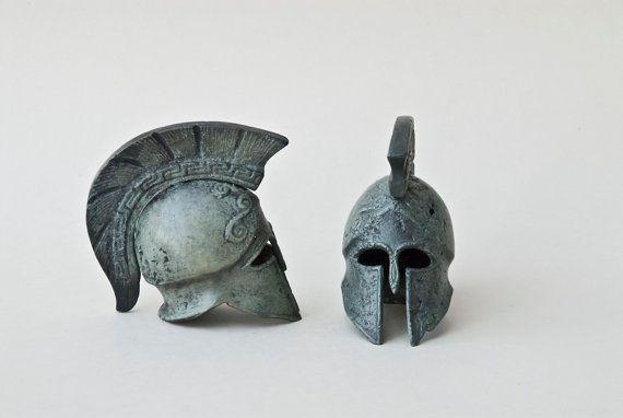 Bronze Helmet  Greek Key Crest Ancient Greek by GreekMythos,