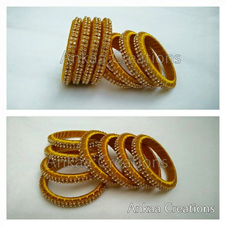 beautiful silk thread bangles...can mix n match with other bangle to give a grand look..plz visit https://m.facebook.com/ankaa.creations for more designs ad hit a like button
