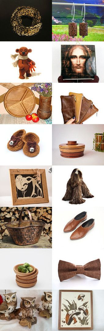 Wonderful brown gifts by styledonna on Etsy--Pinned+with+TreasuryPin.com