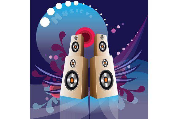 Music speakers by ARTYuSTUDIO on @creativemarket