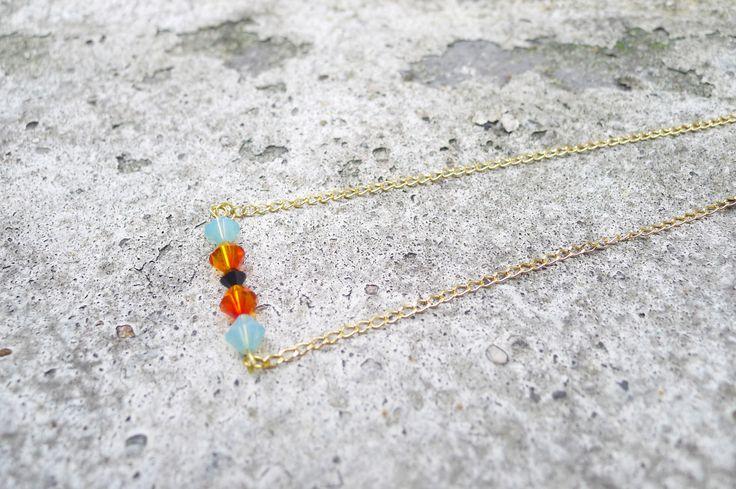 Collier en perles de cristal Swarovski par Elisabeth de Sagazan
