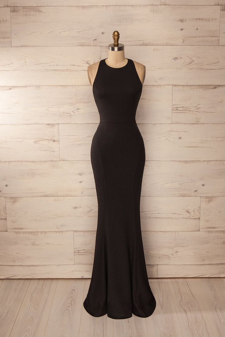 Long black dress xs drink