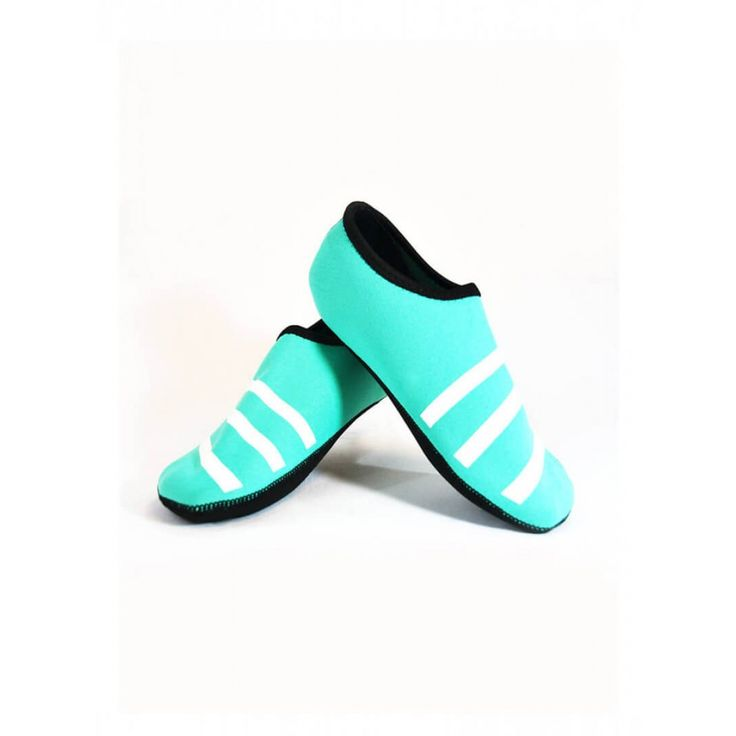 SPORTY NU TEAL/ WHITE STRIPE NUFOOT