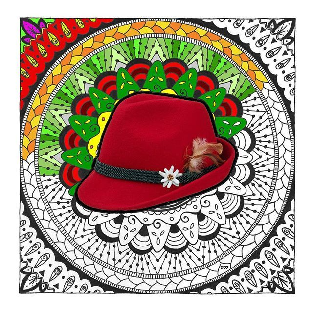 Il mio nuovo doodle in stile sudtirolese. Vi piace? scaricatelo gratuitamente dal mio blog!  My new doodle in South Tyrolean style. Do you like it? Free download from my blog!  #creative #doodle #zentangle #coloryourlife #southtyrol #style #mandala #drawing #relaxing #misstasteandwine #altoadige