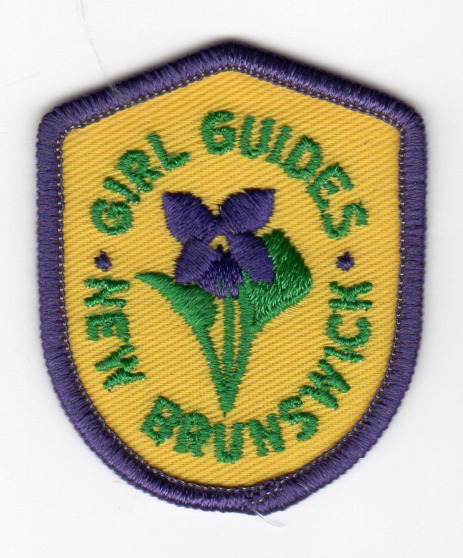 Girl Guides Canada NEW BRUNSWICK Provincial Crest Patch Flower Violet GGC Scouts