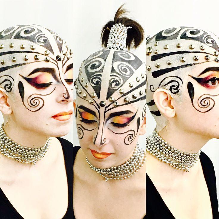 Extrem makeup, artitic makeup,