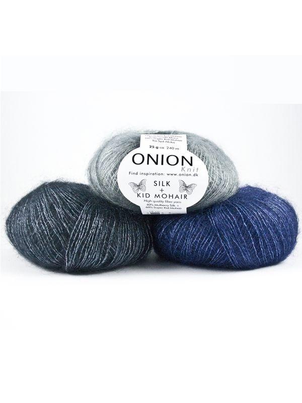 Onion Silk +Kid Mohair delikatna i super miękka mieszanka moheru Kid i jedwabiu