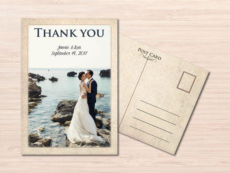 Vintage Thank you Postcard ~ Wedding Thank you Postcard ~ Wedding Thank you Card ~ Vintage Wedding ~ Thank you Cards Wedding ~ Printed cards