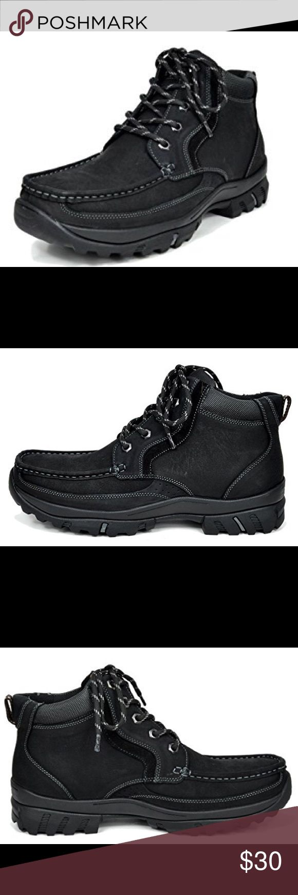 """Bruno Marc Men's Leather Rubber Outsole Boots Bruno Marc Men's Genuine Leather Rubber Outsole Classic American 6"""" Work Boots. Brand new, size 12 bruno marc Shoes Boots"""