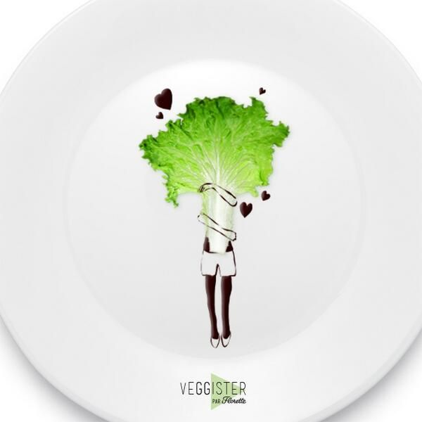 Après l'orgie de chocolats du week-end, aujourd'hui, nous sommes en amour avec la salade ! :) #Veggister #FoodArt
