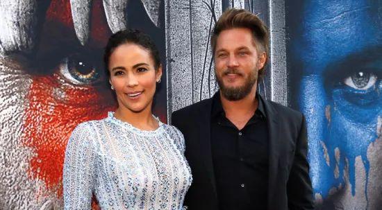 Travis Fimmel with Warcraft co-star Paula Patton