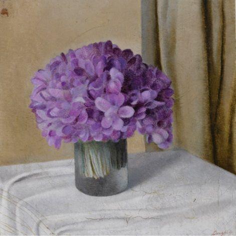 Viole nel vaso by Antonio Donghi