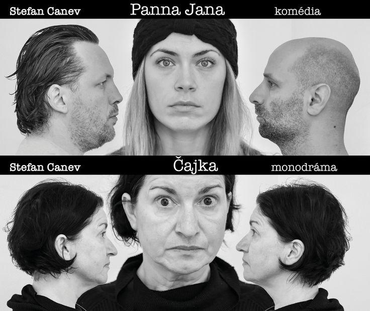 """17.11.2016 o 19:00 PREMIÉRA Stefan Canev:  PANNA JANA A ČAJKA (komédia a monodráma) Dve jednoaktovky """"Druhá smrť Jany z Arcu"""" a """"Peklo-to som ja"""" žijúceho bulharského autora spojené do jedného predstavenia. Predstavenie vzniká k 27. Výročiu """"nežnej revolúcie"""" a k 25. Výročiu činnosti nezávislého Divadla a.ha, ktoré momentálne sídli na Malej scéne STU. Ústrednou témou inscenácie je """"umelec a jeho svedomie"""""""