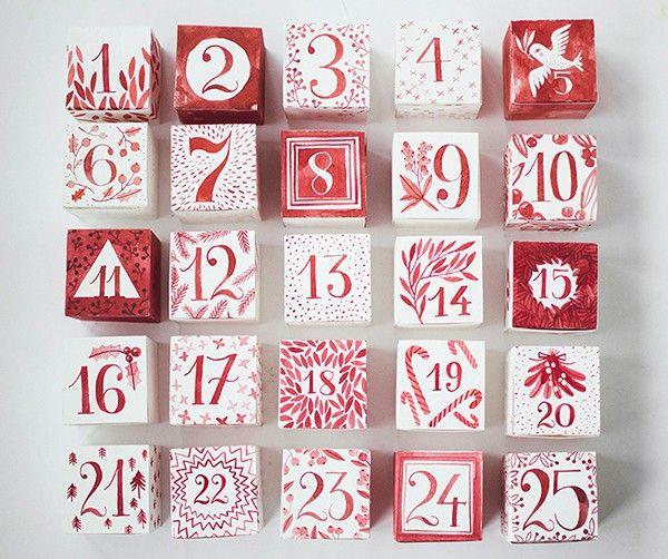 watercolor advent calendar