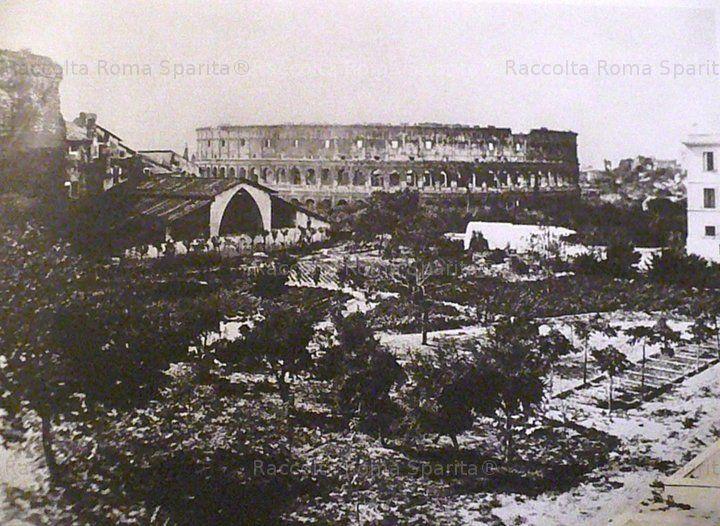 Colle Oppio con la polveriera 1860
