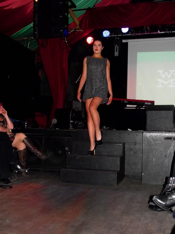 Looking fab on the stage during the fashion show!  Photo Credit: Laura Vitel