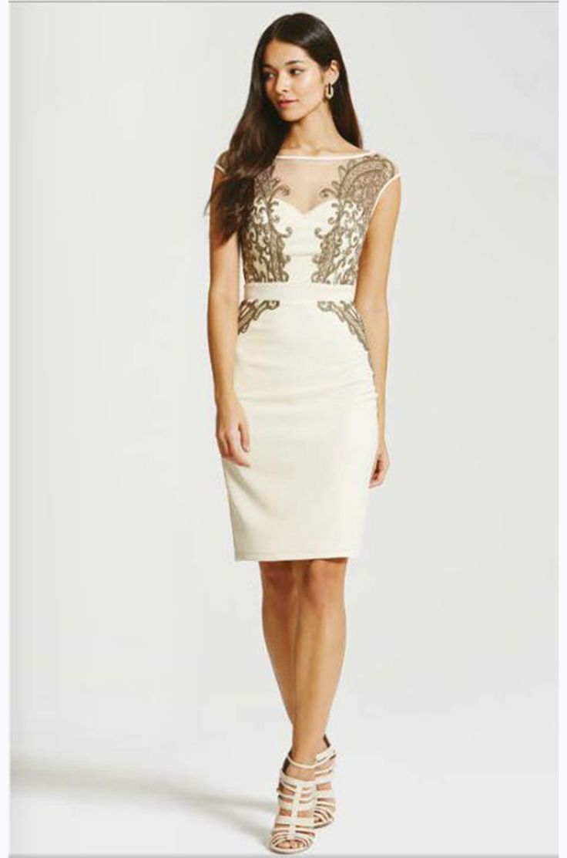 kremowa sukienka na wesele   http://fashion4u.pl