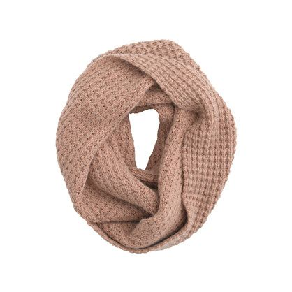 waffle-stitch infinity scarf / j.crew
