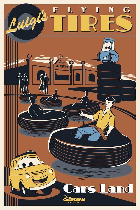 New 'Cars Land' Posters Coming to Walt Disney Imagineering Blue Sky Cellar at Disney California Adventure Park