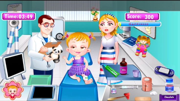 Baby Hazel  - Baby Hazel Leg Injury - Best  kids game| ClassY Kids Games