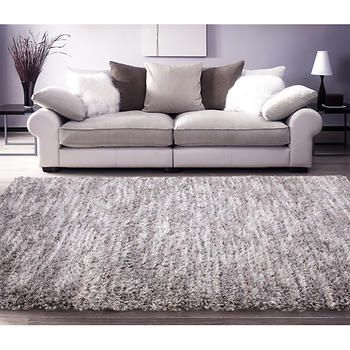 ecarpetgallery Yeti Cream and Light Grey Shag Area Rug