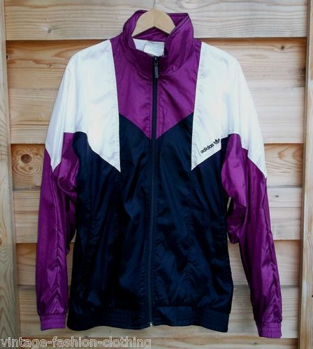 fd56d738e2ab ADIDAS Shellsuit Tracksuit top 80s 90s vintage Jacket Shiny Nylon ...