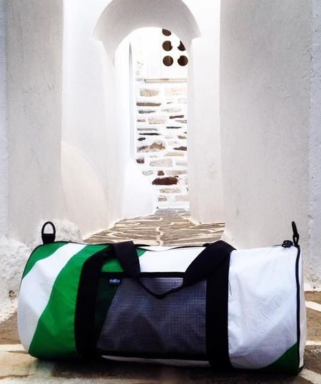 Paros - Reused Sail Duffel Bag by ThinkSea