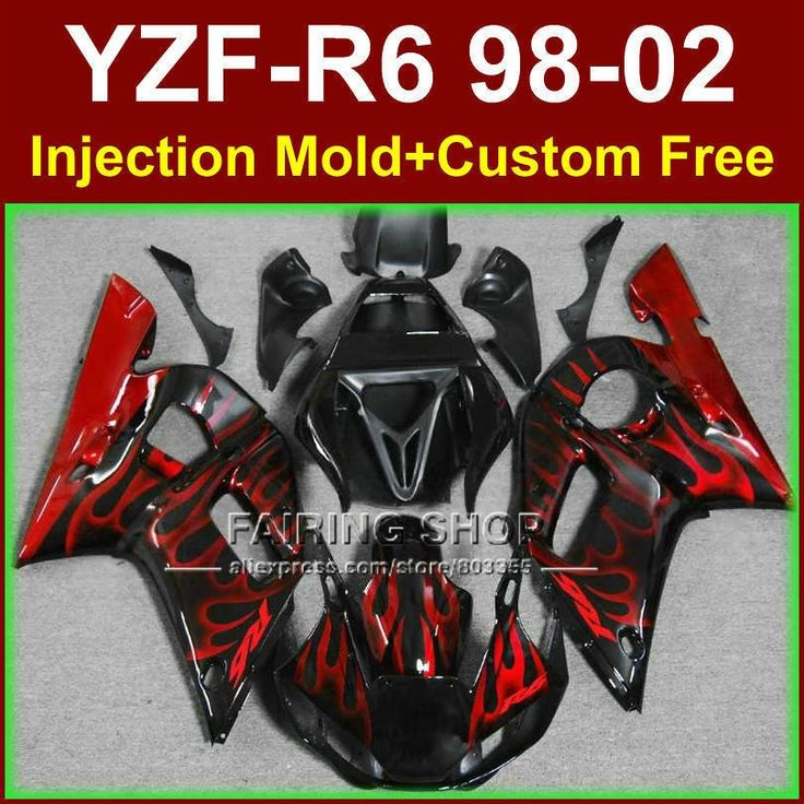 356.40$  Watch more here  - O8EC New red flame fairing set for YAMAHA R6 98 99 00 01 02 YZF R6 fairing kit 1998 1999 2000 2001 2002 fairings parts O9RG