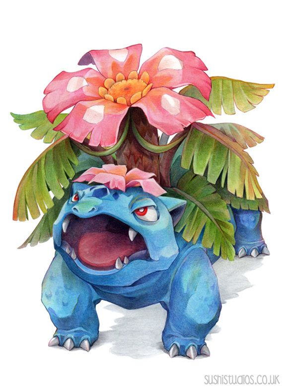 Hey, I found this really awesome Etsy listing at https://www.etsy.com/listing/225538523/a4-print-mega-venusaur