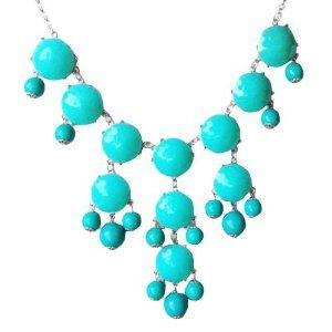 Turquoise Bubble Necklace in Silver Tone (Fn0508-S-Turquoise): Jewelry: Amazon.com