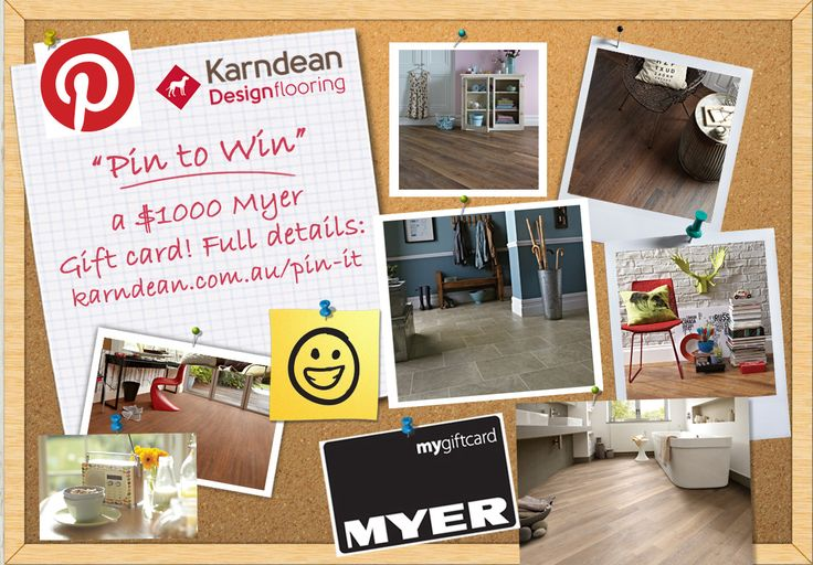 COMPETITION: Australia Pin to Win a $1,000 Myer gift card to help freshen up your home this Spring! Full details: www.karndean.com.au/pinit