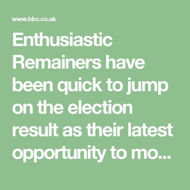 Enthusiastic Remainers have been quick to jump on the election result as their latest opportunity to mould the UK's departure from the EU.