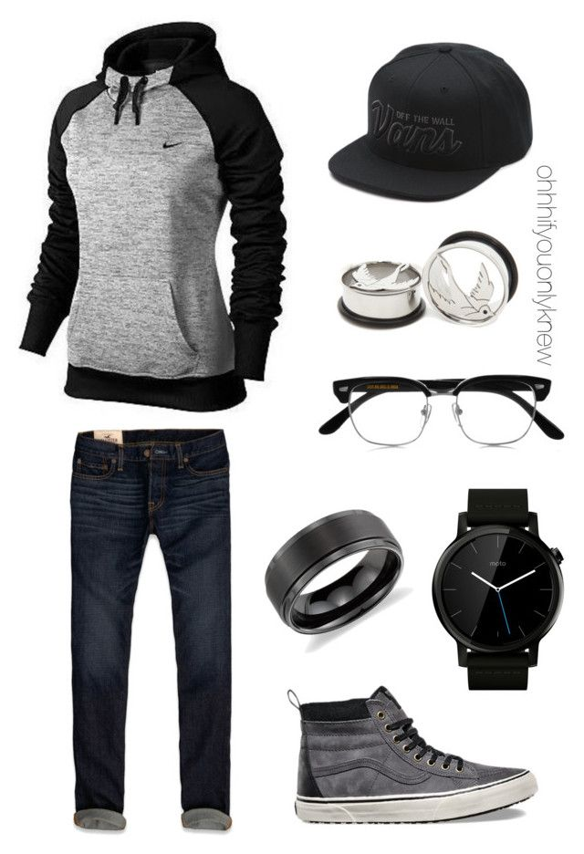 """Untitled #231"" by ohhhifyouonlyknew on Polyvore featuring NIKE, Hollister Co., Vans, Motorola, Cutler and Gross, Blue Nile, men's fashion and menswear"