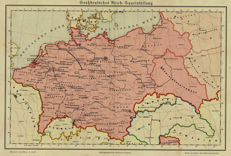 Germany in 1950. Alternate history map in case of a German victory during World War 2.