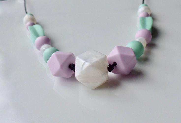 Teething Necklace, Nursing Necklace, Baby Teether, Modern Baby, Baby Shower, New Mom Gift