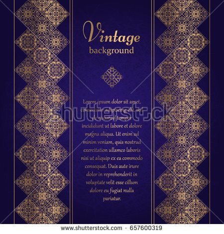 Vintage background, mosaic luxury ornament, ornate cover page, ornamental pattern template for design.