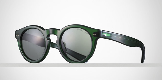 Ralph Lauren have released a new pair of timeless keyhole sunglasses as part of their luxurious Purple Label Summer 2011 collection. The Italian crafted retro silhouette comes in three colourways - tortoise, black, and green.