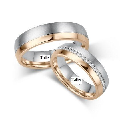 14K SOLID WHITE & ROSE GOLD MATCHING HIS & HERS WEDDING BANDS WITH DIAMOND Width : 6.5mm/6.5mm Finish : Satin & Shiny Finish Fit : Comfort Fit Size: 4-12  -A WIDE SELECTION OF MENS & WOMENS WEDDING BANDS AT LOWEST PRICES.  -DIRECT MANUFACTURER FROM NEW YORK -GREATEST QUALITY  -EXCELLENT CUSTOMER SERVICE  -SATISFACTION GUARANTEED ********YOUR SATISFACTION IS OUR #1 PRIORITY.*********   -All His and Hers Sets are available individually.  Her wedding band is decorated with Round Brilliant Cut…