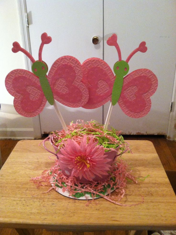 Butterfly centerpiece baby shower ideas pinterest for Baby shower decoration butterfly