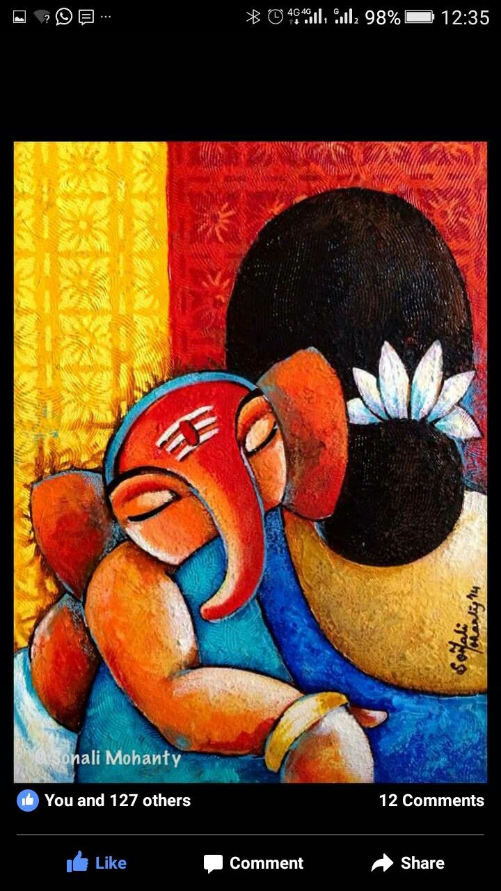 Ganesha and mother