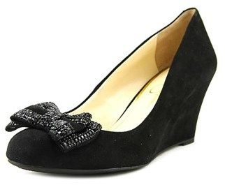 Jessica Simpson Selonia Women Open Toe Synthetic Black Wedge Heel.