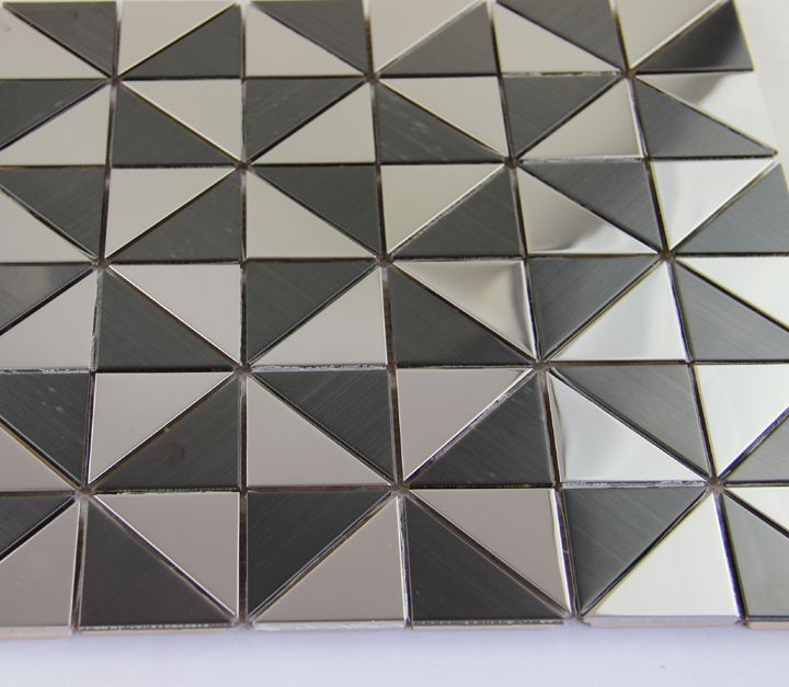 Hot black white triangle metal mosaic wall tile  metallic mosaics wall tiles adhesive  fashtion kitchen shower bathroom sticker-in Mosaics from Home Improvement on Aliexpress.com | Alibaba Group