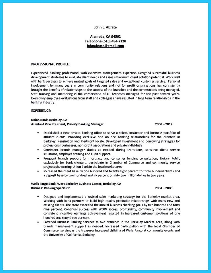 awesome Inspiring Case Manager Resume to Be Successful in Gaining - bank manager resume